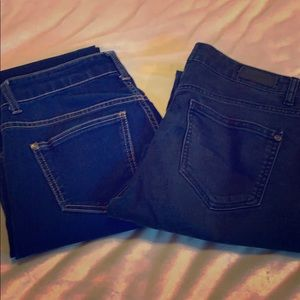 2 pair Celebrity Pink stretchy jeans